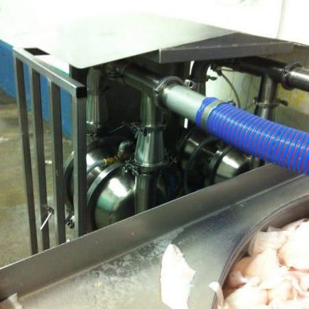 Visverwerking - Visfilet - Murzan PI-50 luchtgedreven membraanpomp met flappers