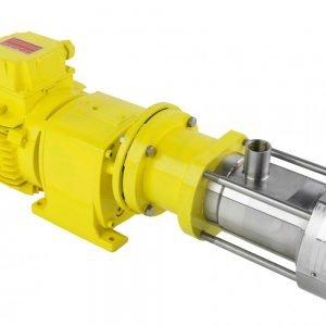 Mouvex Micro-C oscillerende zuigerpomp met geïntegreerde motorreductor