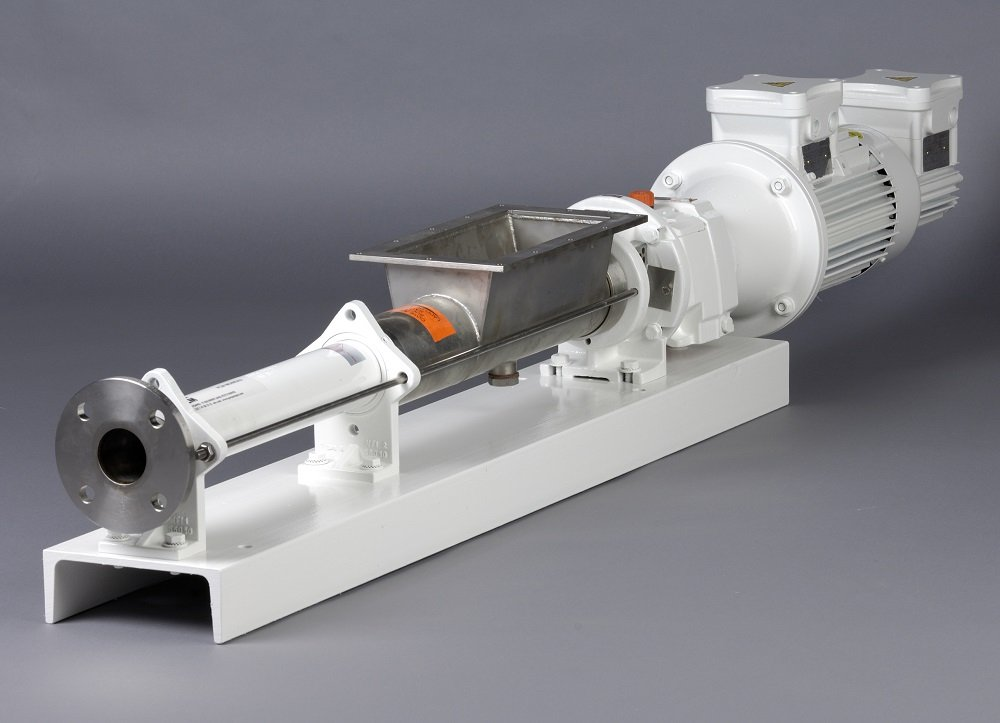 PCM IVA excentrische wormpomp met trechter en toevoerschroef - Moineau pompen