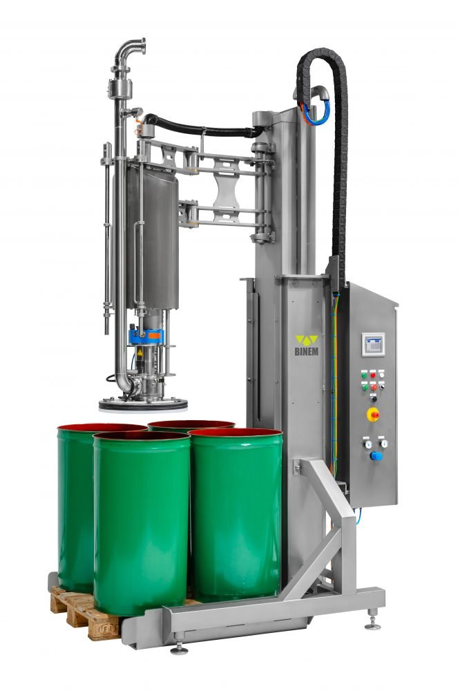 BINEM drum unloading system - Vatenlediger
