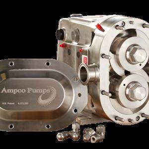 Ampco ZP3 hygiënische draaizuigerpomp met gepatenteerd front-loaded seal design